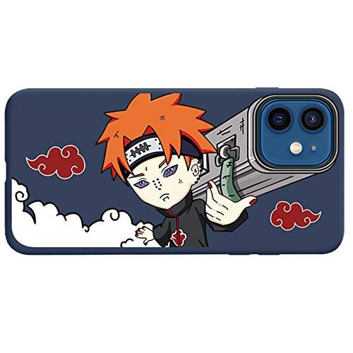 TXWL Naruto Anime - Funda para iPhone 11 11Pro 11ProMax, Uchiha Sasuke Kakashi Dolor Personalizado Cannon Patrón Diseño TPU Funda Cubierta Trasera Anti-Scratch Basic-Cases Azul - 11ProMax