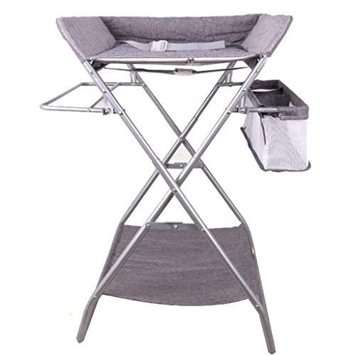JALAL Table à Langer Pliante Grise avec Rangement pour Petits espaces, Organisateur de Commode pour Table à Langer pour bébé, 0-3 Ans