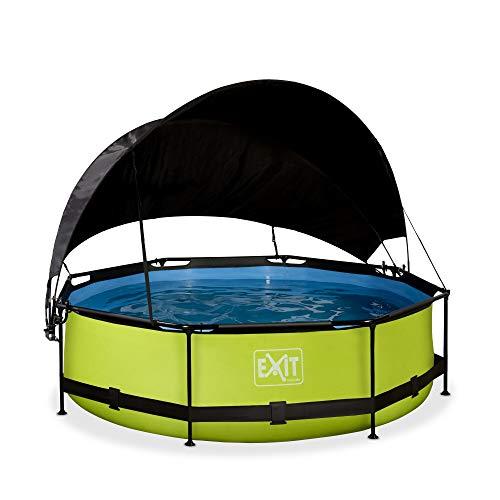 EXIT Lime Pool ø300 x 76 cm con toldo y bomba de filtro, color verde