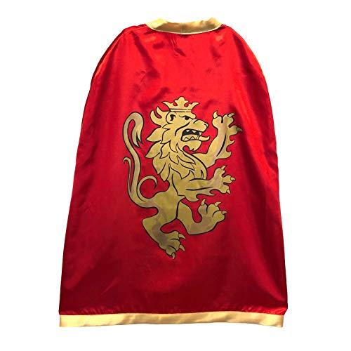 Liontouch 10351LT Cape Satin Jouet Enfants Chevalier Noble Moyen-Âge Rouge | Costumes Enfants