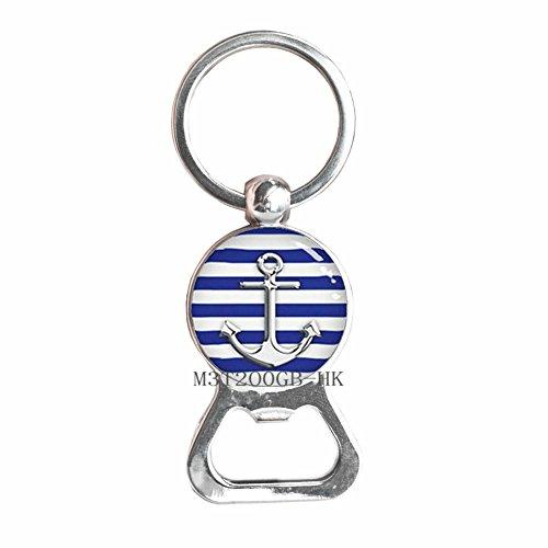 Anchor Bottle Opener Keychain - Nautical Jewelry - Anchor Jewelry - Nautical Bottle Opener Keychain - Dainty Bottle Opener Keychain - Minimalist Bottle Opener Keychain-MT266