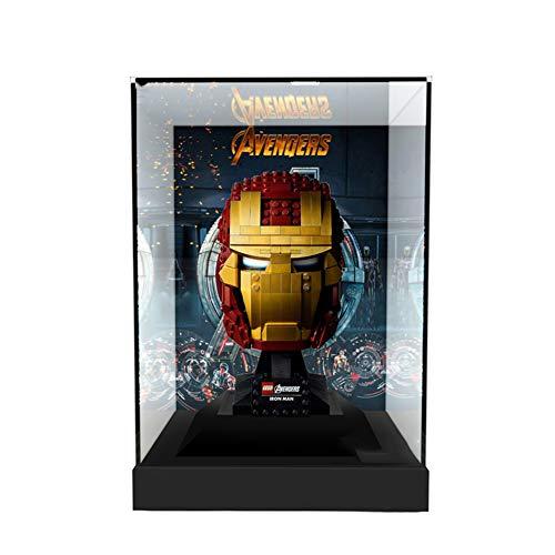 Nlne Vitrine De Présentation Transparent pour Lego Casque D'iron Man V29 - Acrylique Display Case Antipoussière pour Lego 76165 (Modèle Non Incluse)