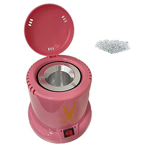 Esterilizador cuarzo Esterilizador de 100W con Bolas de Cuarzo Esterilizador de utensilios para manicura y pedicura (ROSA)