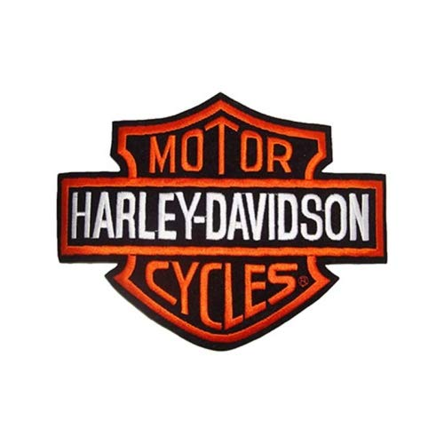 Parche termoadhesivo Harley Davidson Logo Bar&Shield B&S XL Grande 26 x 20 x Chaquetas y chaleco