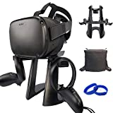VR Stand with DustProof Cover and Cable Velcro Strap Accessories for Oculus Quest/Rift/Rift S/GO/HTC Vive/Vive Pro/Play Station VR