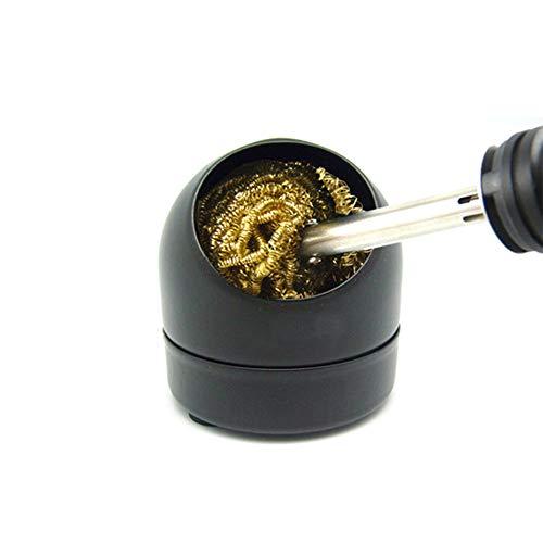 La mejor boquilla para soldador de hierro limpia el asiento de la bola, limpiador de boca de bola de acero con succión de cobre puro, red de estaño en adición al asiento de bola de estaño.
