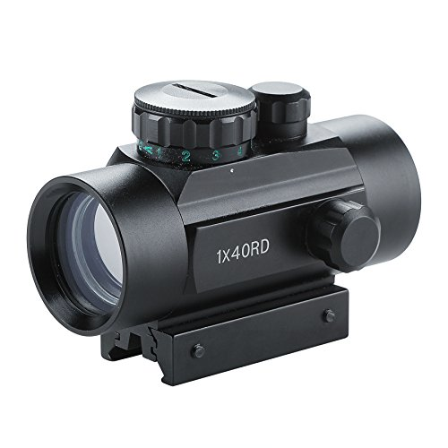 Pinty Tactical 1x40mm Reflex Red Green Dot Sight Riflescope with Free 20mm Mount Rails