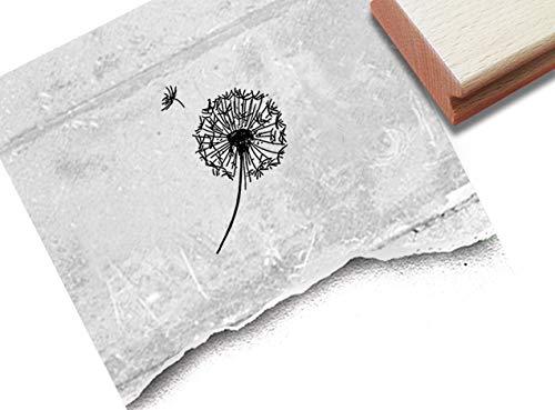 Stempel Motivstempel Zarte Pusteblume Löwenzahn - 3 Größen - Bildstempel Karten Basteln Scrapbook Bullet Stamp Tischdeko Deko Geschenk - zAcheR-fineT