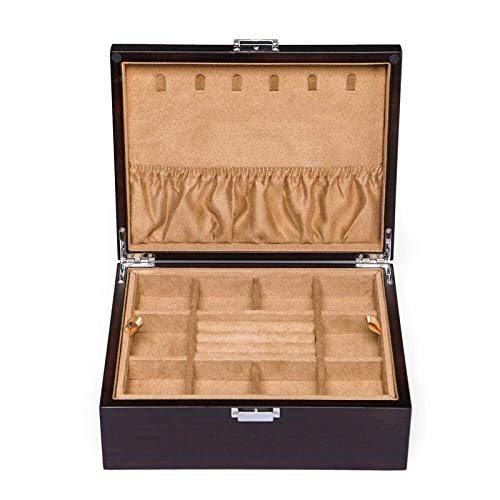 Tangrong Jewelry Storage Box, Style Vintage Chinese Houten Stofdichte Storage doos met slot, met grote capaciteit Bracelet Watch Ketting Ring Armband Finishing sieraden opbergdoos,