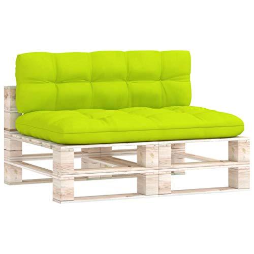 vidaXL Cuscini per Divano Pallet 2 pz Verde Brillante