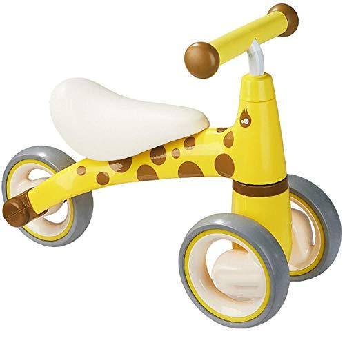 YYhkeby Triciclo para niños, Bicicleta de Equilibrio sin Pedales con 3 Ruedas adecuadas Desde 2-4 años, niñas para niños, bebé, Tres Ruedas Jialele (Color : Yellow, Size : 50 * 18.3Cm)
