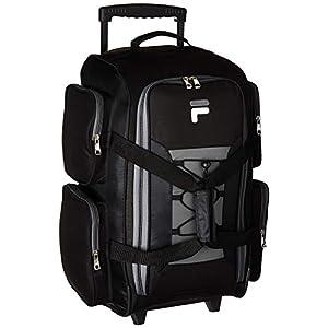 "Fila 22"" Lightweight Carry On Rolling Duffel Bag, Black, One Size"