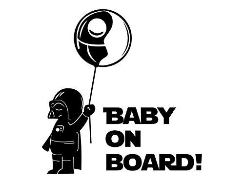 Oedim Baby on Board Sticker Ballon Zwart | 20 x 20 cm | Gemakkelijke Plaatsingssticker | Economische en duurzame autosticker