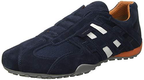 Geox Herren Uomo Snake L Sneaker, Navy, 46 EU