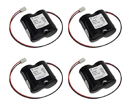4er Set Batterie kompatibel ABUS Security-Center für 2WAY-Funk-Außensirene 3V Panasonic Powerline ABUS FU2986 FU8220 FU8222 FUSG50000