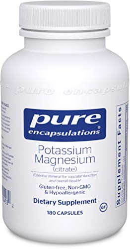 Pure Encapsulations - Potassium Magnesium (Citrate) - Hypoallergenic Supplement to Support Heart, Muscular, and Nerve Health - 180 Capsules
