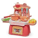 MINGDIAN 26 Piezas de Juguetes de Cocina para niños, Juego de Cocina con ollas y sartenes, Utensilios de Cocina, Comida para Cortar, Verduras