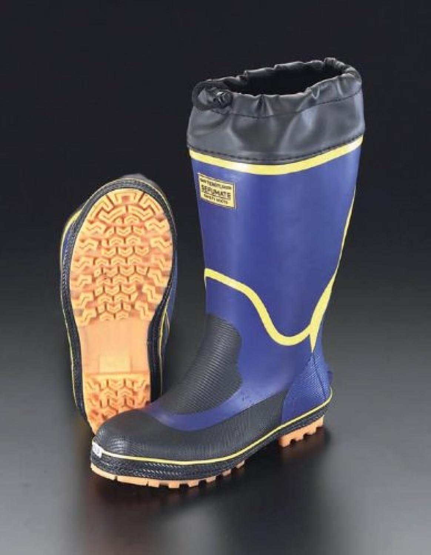 エスコ 25.0cm安全長靴(アメゴム) EA998RG-25