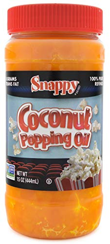 Snappy Pure Colored Coconut Popping Oil, 15 Ounce