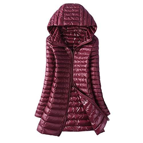 YRFHQB Herfst Winter Jas Vrouwen Down Slim Lange Parkas Dames Warm Jas Hooded Plus Size 5xl 6xl Ultra Licht Bovenkleding Jassen