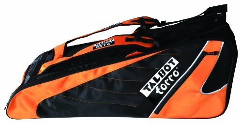 Talbot Torro Badminton Doppel-Thermo Racketbag, schwarz-orange