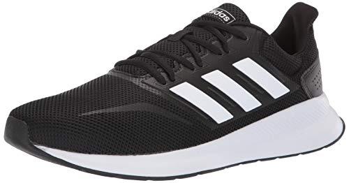 adidas Men's Runfalcon Running Shoe, Black/White/Black, 10 M US