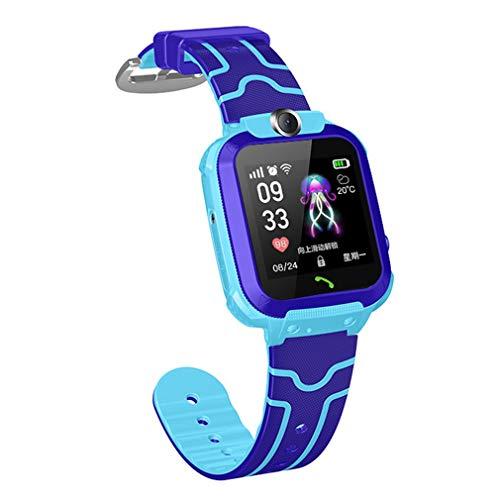 aixu Relojes Inteligentes para Niños, Impermeable, Deportivo, Rastreador De Ejercicios, Pulsera Inteligente, Azul, Impermeable