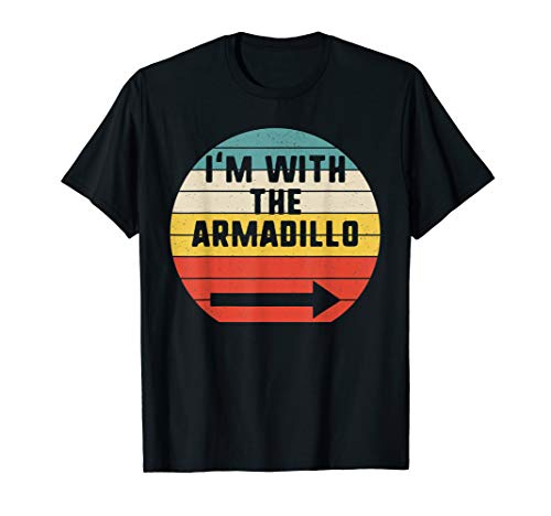 I'm With Armadillo Halloween Matching Couple Costume Vintage T-Shirt