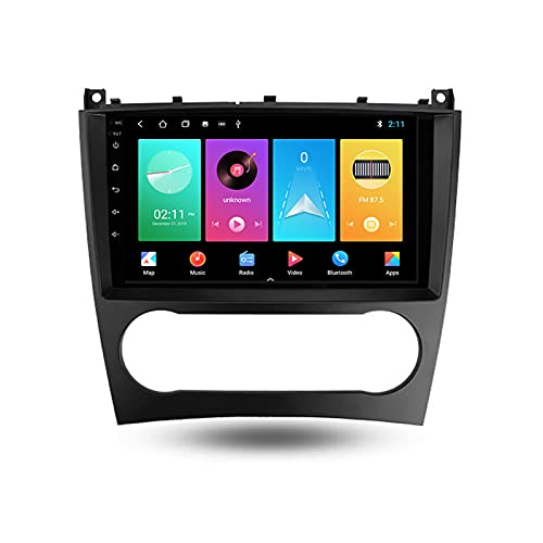 ADMLZQQ Autoradio 2 DIN per Benz Clase C W203 W209 2004-2011 Android con Bluetooth per Auto 9'' IPS Touchscreen 5G WiFi Auto Info Plug And Play Supporto Carautoplay/Dab+/OBDII,M100s