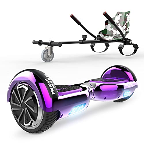 """HITWAY 6.5"""" Patinete Eléctrico con Silla, Hoverboards Bluetooth, Scooter Eléctrico Asiento kart, Self Balancing Scooter Potente Motor con Indicador LED, Regalo para Niños"""