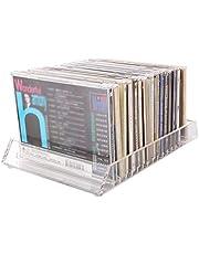 OuLiSi Caja CD de Escritorio Transparente acrílica, Caja de Almacenamiento Disco la casa Libros en casa, Estante exhibición DVD de la Tienda de Discos de la estación de Radio de DJ del Bar
