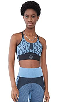 adidas by Stella McCartney Women s True Purpose Sports Bra Stone Blue/Black Small