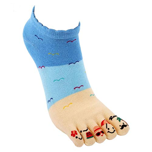 FORUU Fashion Women Cute Five Fingers Anti Slip Cotton Socks Comfortable Socks