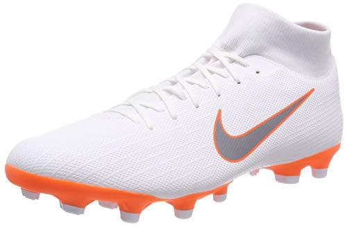 Nike Mercurial Superfly VI Academy MG, Scarpe da Calcio Uomo, Bianco (White/Chrome-Total O 107), 41 EU