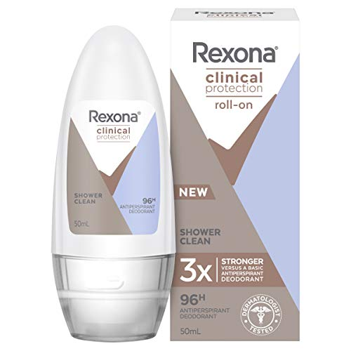 Rexona Clinical Protection Antiperspirant Deodorant Roll On, Shower Clean, 50ml