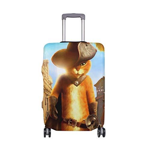 IUBBKI Funda de Equipaje de Viaje El Gato con Botas Protector de...