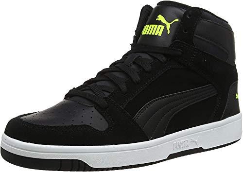 Puma Unisex-Erwachsene Rebound Layup SD Sneaker, Schwarz (Puma Black-Yellow Alert-Puma White), 46 EU