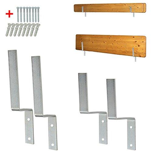 4U-Onlinehandel Wandhalterung für Biertischgarnitur-Set Biertischgarnitur Bierzeltgarnituren Tisch Bank Aufhängung Halterung Biertisch-Halter Festzeltgarnitur