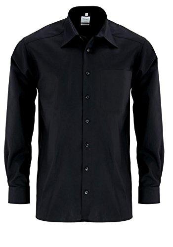 OLYMP OLYMP Herren Hemd Comfort Fit Langarm, Schwarz (99 schwarz), Gr. 39