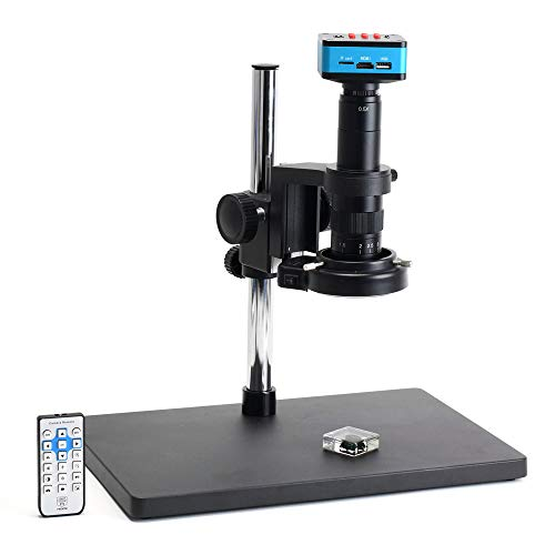HAYEAR Ture 4K UHD FHD HDMI USB 1080P 60FPS Electronic Digital Industrial Video Microscope Camera Set with 300X Zoom C-Mount Lens