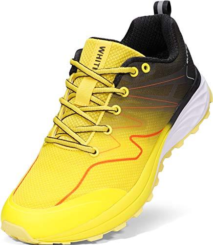 WHITIN Tênis de corrida masculino híbrido on-/off-road, 1_ Yellow Black, 10