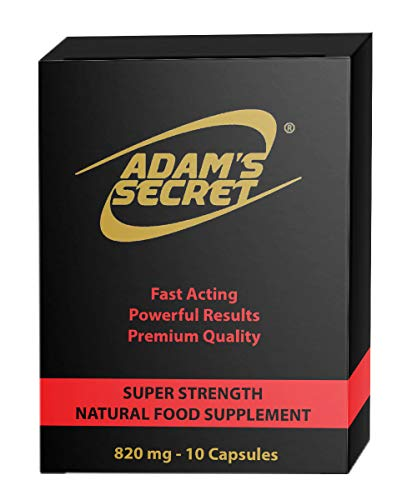 ADAM'S Secret Super Strength Natural Amplifier for Energy and Endurance - Effective Food Supplement for Men (10 Capsules)