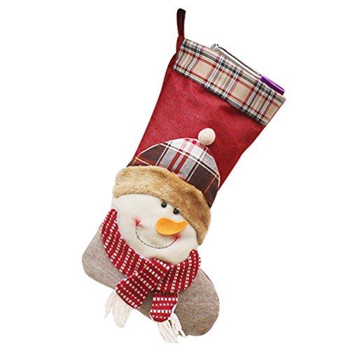 YiLianDa Neige Bottes Chaussettes Père Noël Décorations De Noël Chaussettes Bas De Noël A Suspendre Cadeau Non Tissé