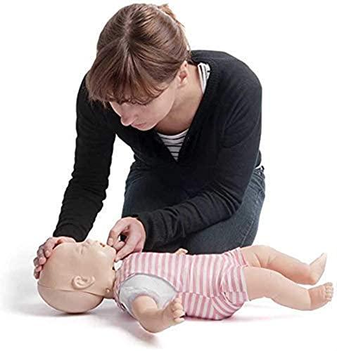 FDABFU Modelo médico Maniquí de reanimación para bebés Modelo de obstrucción de Las vías respiratorias para bebés Maniquí RCP para Entrenamiento de Lactancia Enseñanza de Ciencias médicas también
