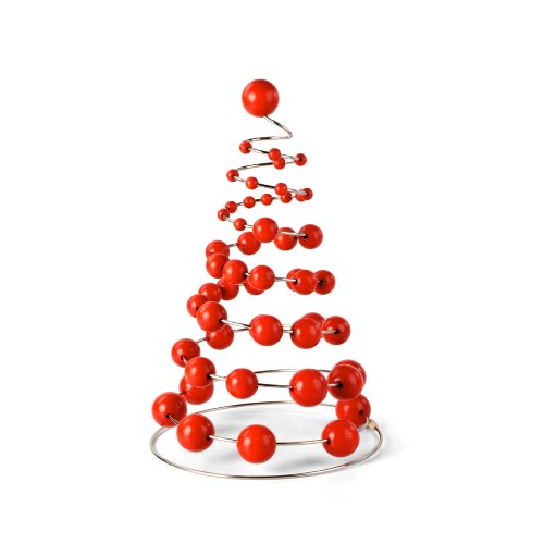 Milani Christmas Tree on a Spring, Red