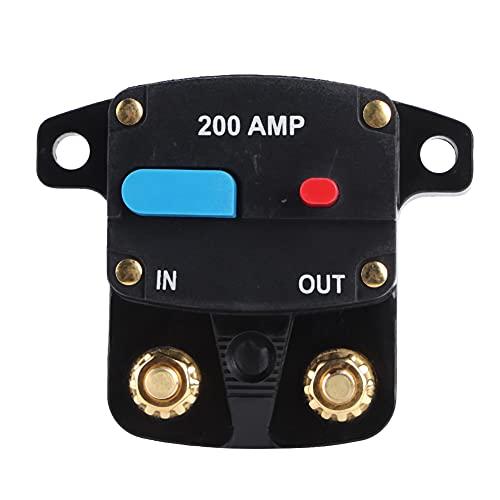 Nicoone Disyuntor 12V Audio Auto-Recuperación Disyuntor Protección Rearmable 200A