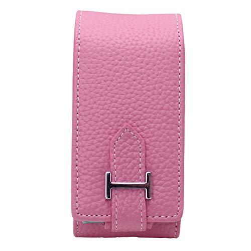アイコス ケース ヒートスティック入れつき かわいい全9色 iQOSケース カナビラ対応 加熱式タバコ入れ 電子タバコ (ピンク)