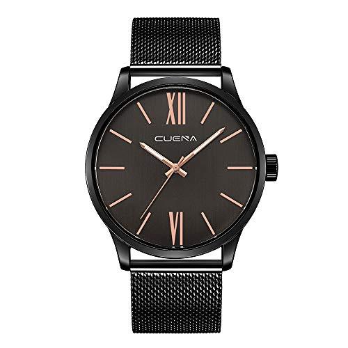 NINGSANJIN Herrenuhren Chronograph Armbanduhren für Herren schwarz