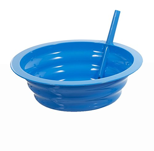 Sip-A-Bowl Cereal Bowl with Built-in Straw - Colors Vary - Qty:1 (Green, Pink, or Blue)