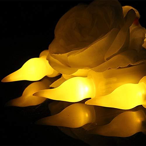 Kamenda Telecomando Lunga Candela Decorazione di Halloween Lungo Palo Candela Luce Religiosa Longcandlesimulation Flametealight